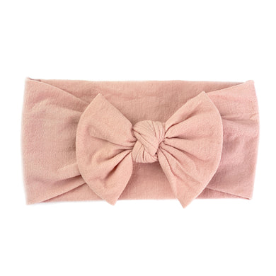 Bow Headband - Dusty Rose
