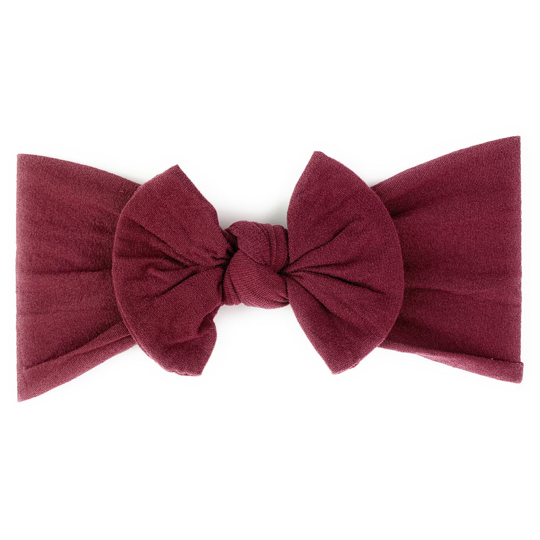 Bow Headband - Plum