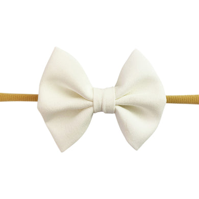 Fanny Bow Headband - White