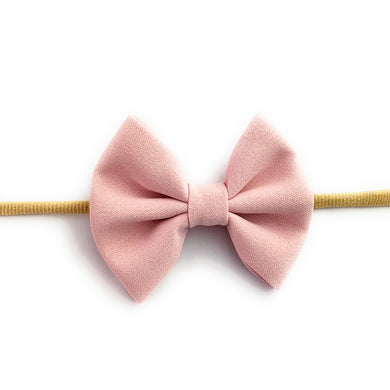 Fanny Bow Headband - Powder Pink