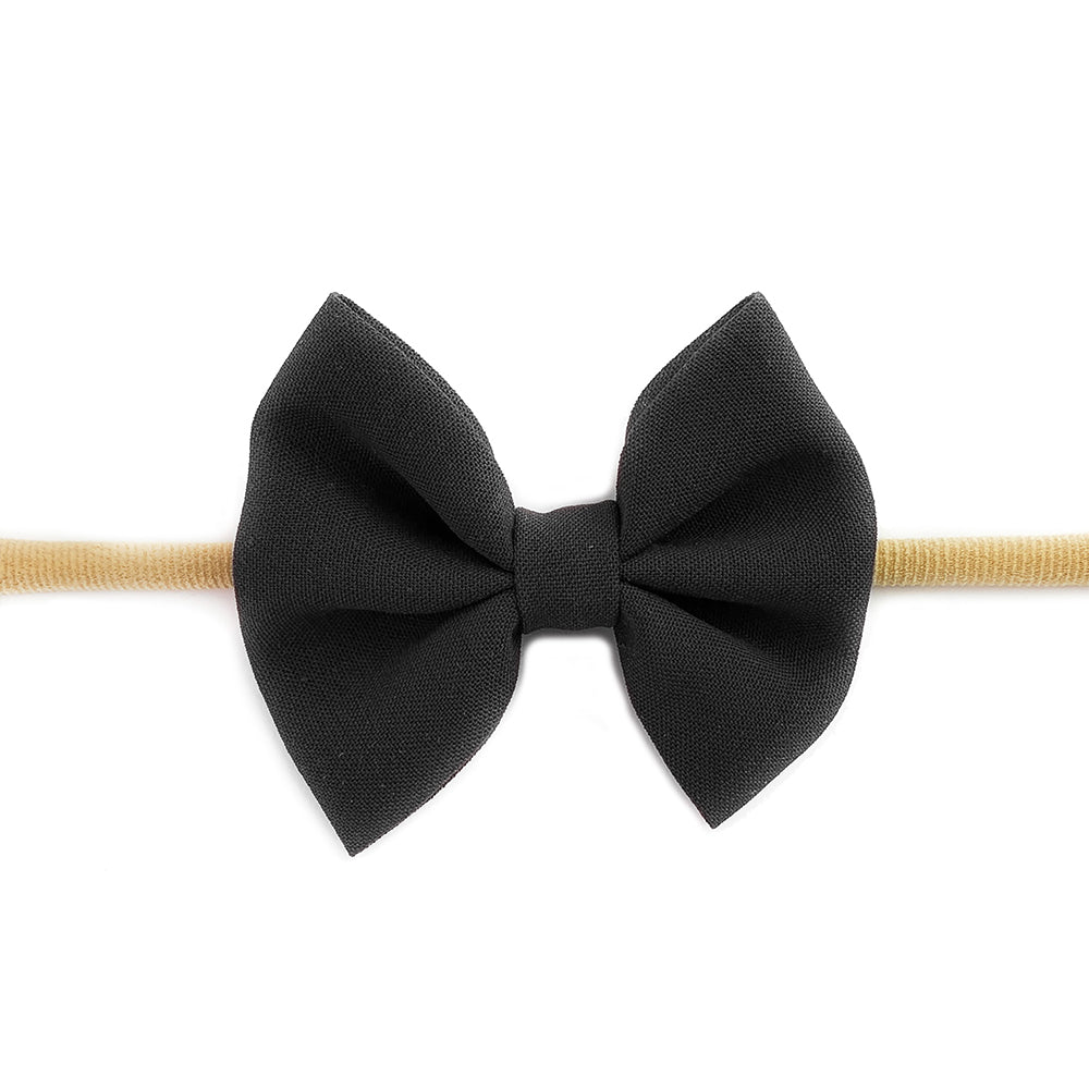 Fanny Bow Headband - Black