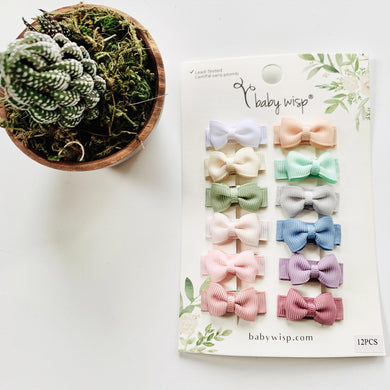 Ultimate Baby Bow Gift Set - 12 Pack Snap Clips