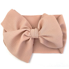Load image into Gallery viewer, Lana Bow - Textured Headband with Giant Bow - Dusty Rose