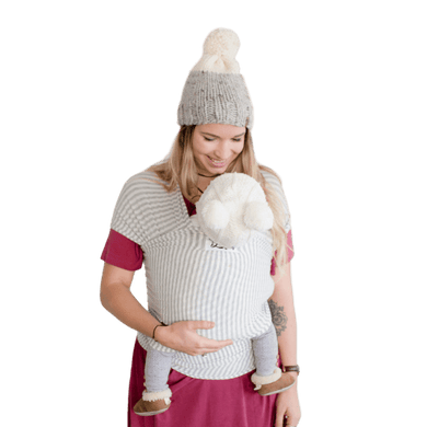 The Shannon Baby Wrap - Light Grey and Ivory Stripe