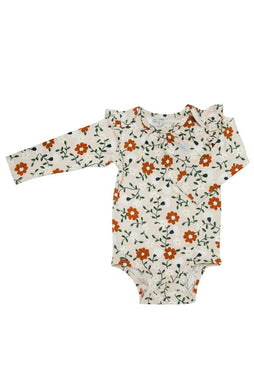 LS Bodysuit in TENCEL™ - Flower Vine
