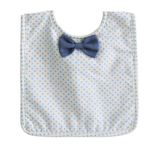 Load image into Gallery viewer, Bow Tie Bib Spot Blue