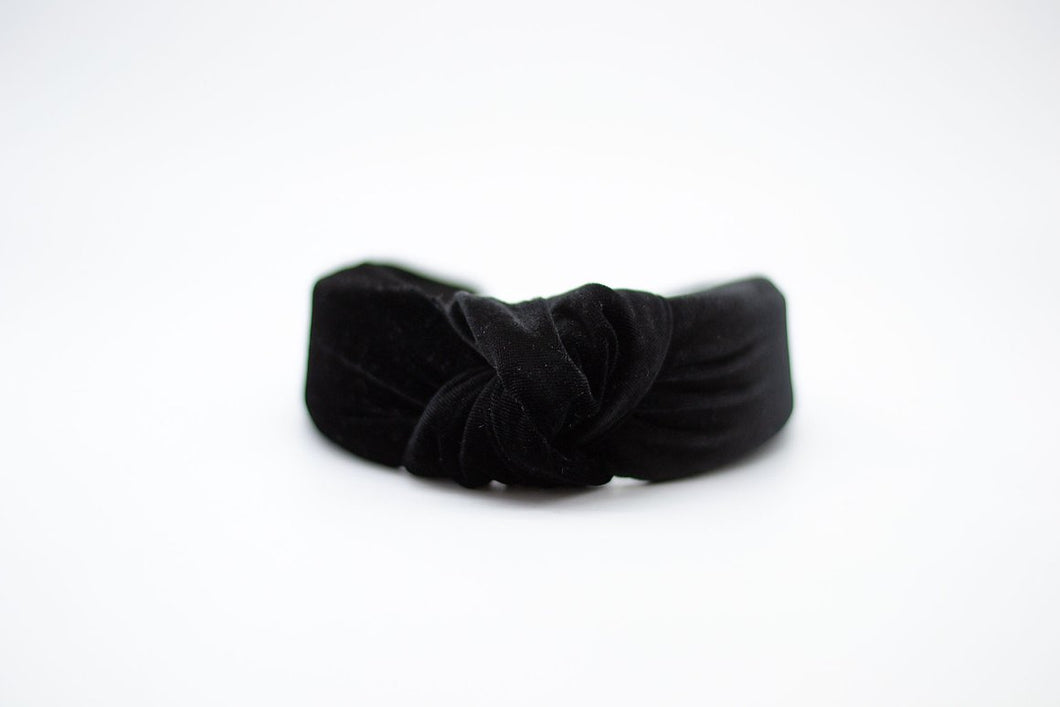 Velvet Mommy + Me Headband - Black