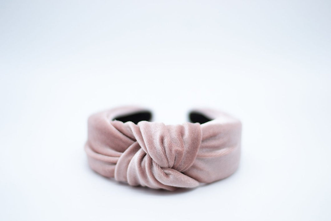 Velvet Mommy + Me Headband - Dusty Rose
