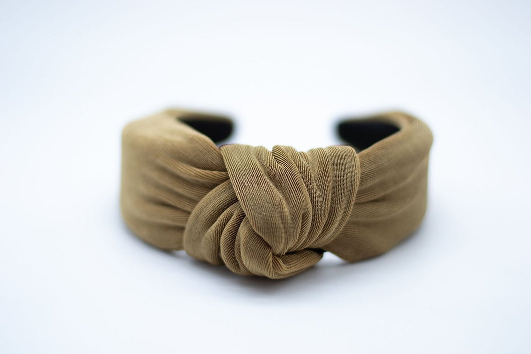 Textured Knit Mommy + Me Headband - Taupe