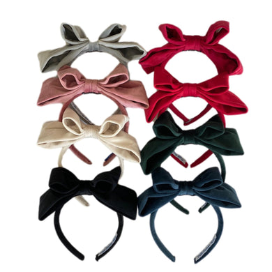Velvet Bow Headbands