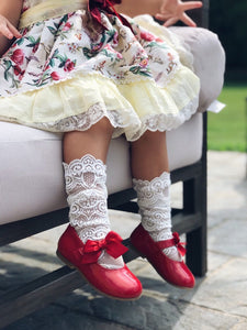 Alice Lace Socks - White