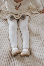 Load image into Gallery viewer, White Knee High Socks with Poms