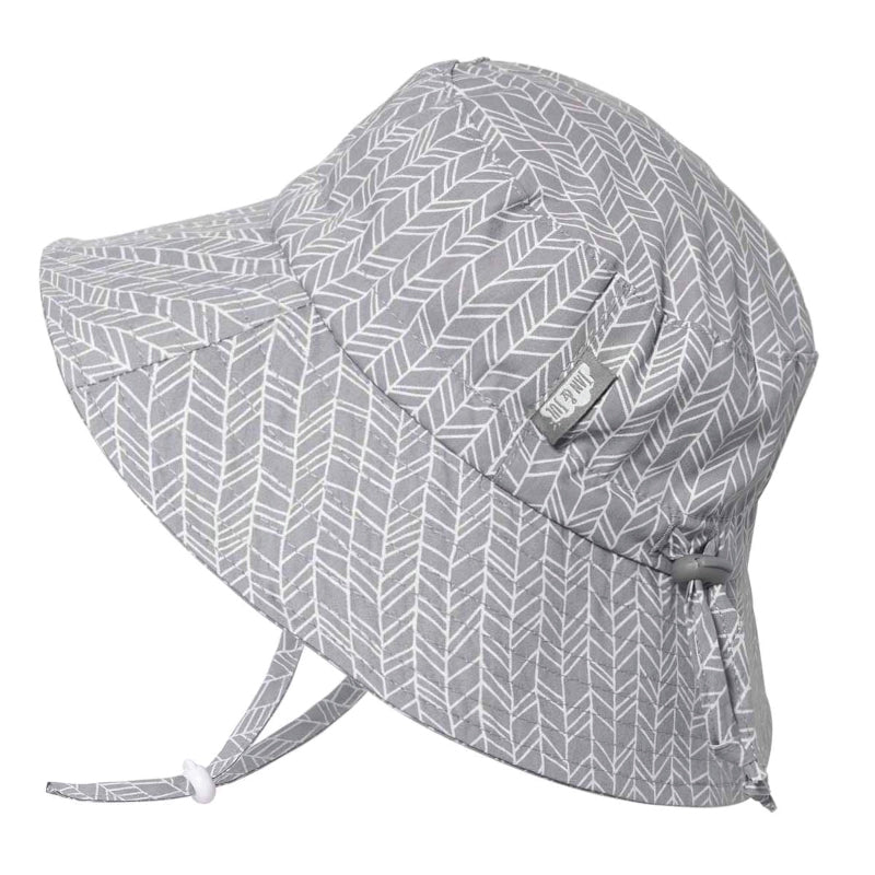 PREORDER Grey Herringbone | Cotton Bucket Hat