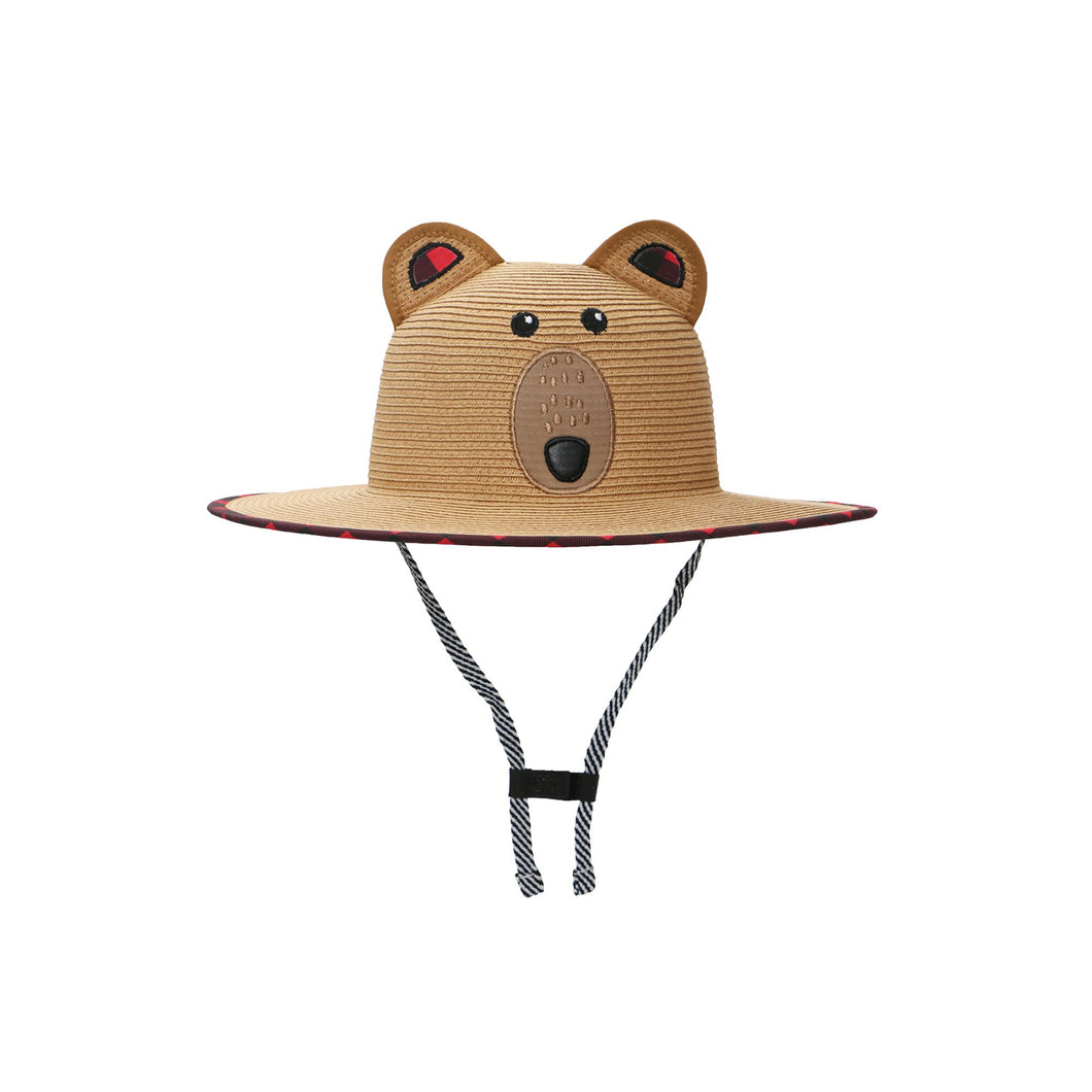 Kids' UPF50+ Straw Hat - Bear