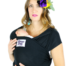 Load image into Gallery viewer, The Sawyer Baby Wrap - Black