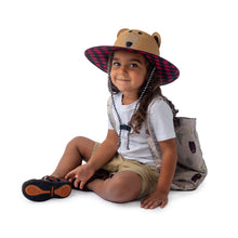 Load image into Gallery viewer, Kids' UPF50+ Straw Hat - Bear