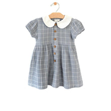 Load image into Gallery viewer, Peter Pan Collar Dress - Windowpane