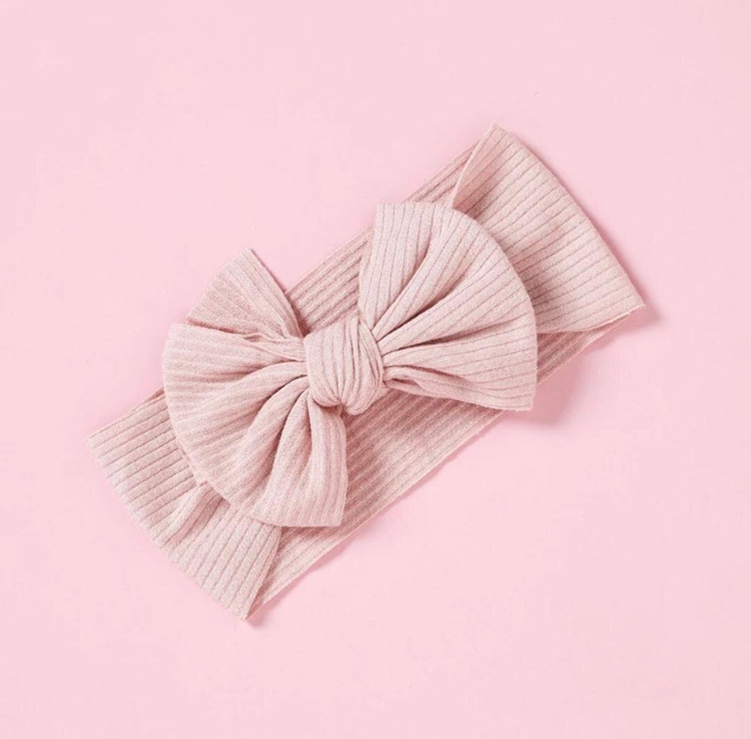 Ribbed Bow | Blush