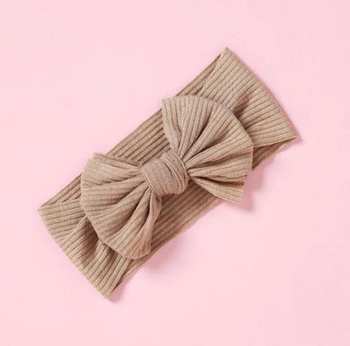 Ribbed Bow | Tan