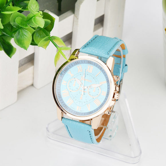ladies Leather Analog Watch