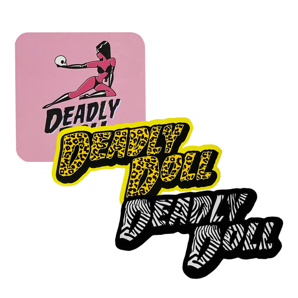 deadly doll sticker pack