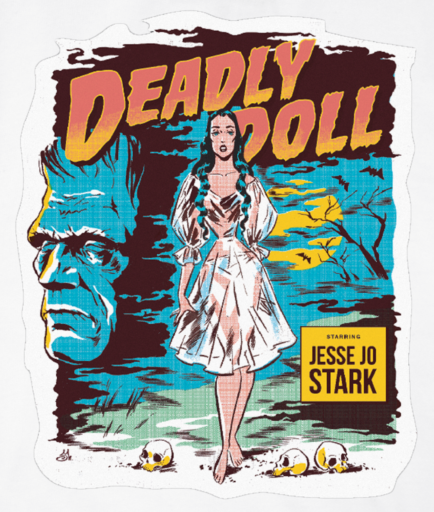 white deadly doll t-shirt