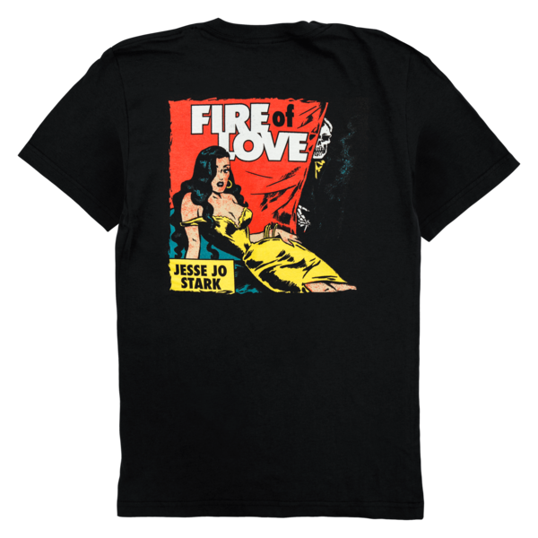 black fire of love t-shirt