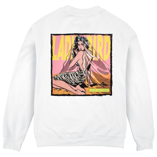 lady bird white crewneck