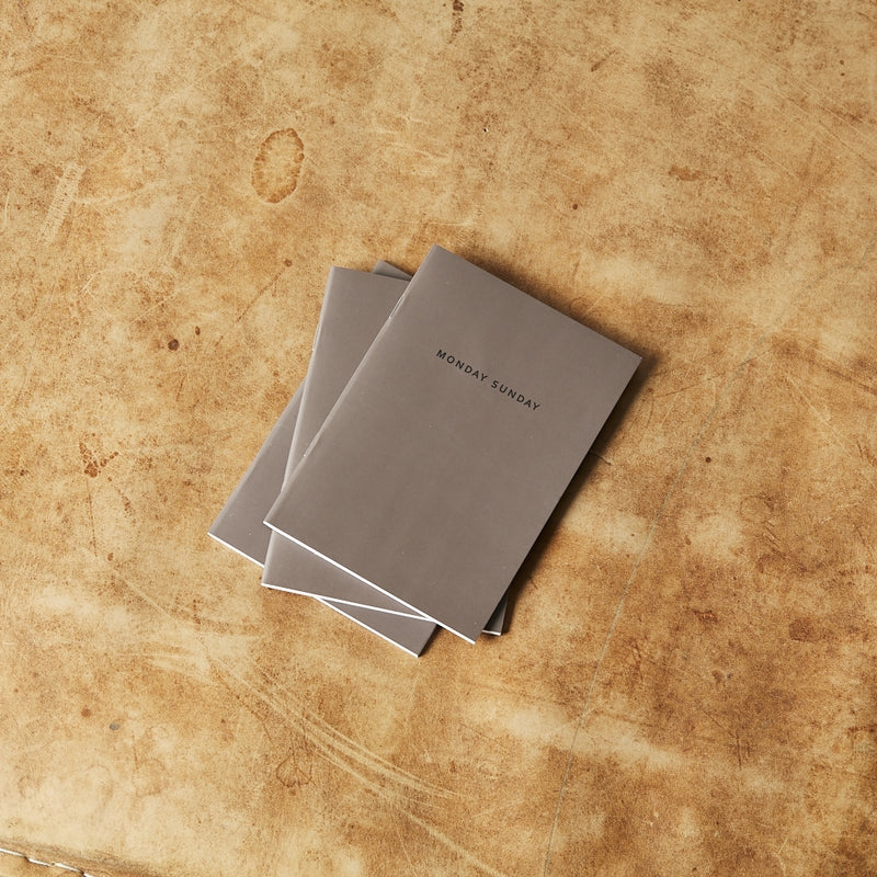 Monday Sunday A6 Notebook 3pk Notebooks Grey