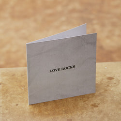 Monday Sunday Card Love Rocks Cards Grey