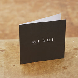 Monday Sunday Card Merci Cards Black