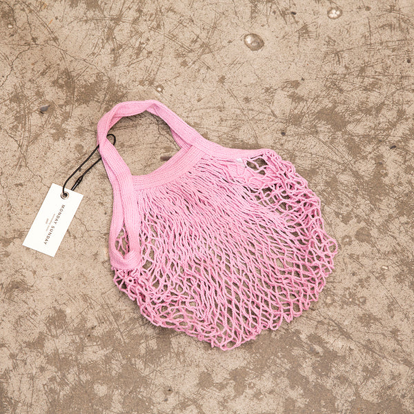 Monday Sunday SMALL MESH BAG -L PINK Bags Pink