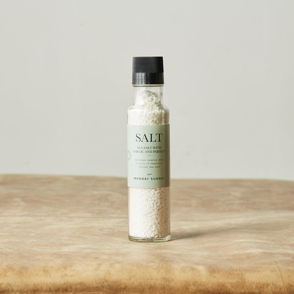 Monday Sunday Sea Salt w. Garlic & Parsley Salt & Pepper White