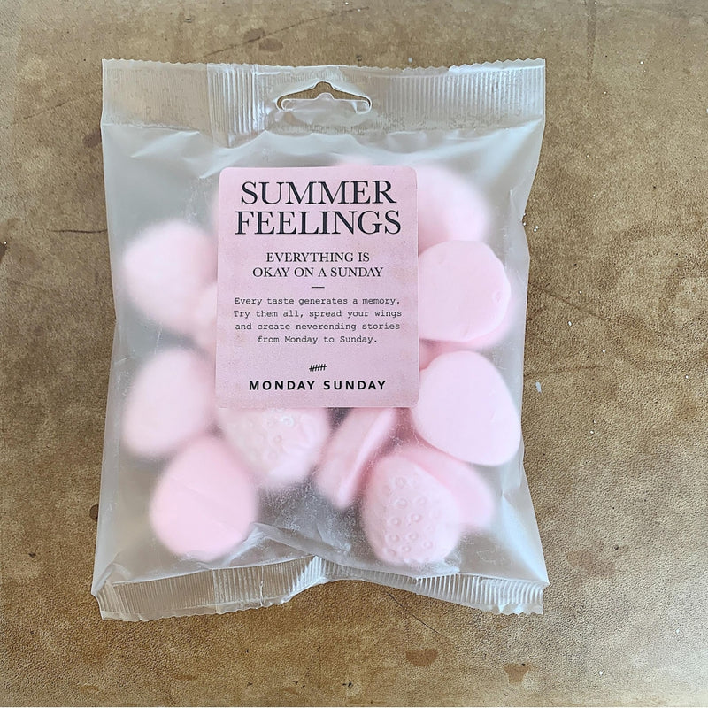 Monday Sunday Summer Feelings Candy Pink