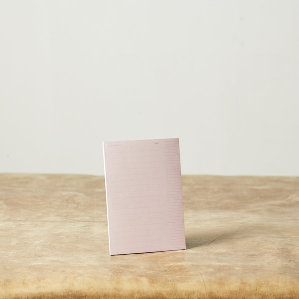 Monday Sunday Visionary Notepad Notepad Pink