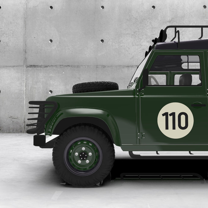 RETRO RACING NUMBER 110 DECAL