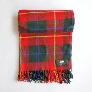PICNICS ON MY LAND ROVER SCOTTISH PLAID BLANKET