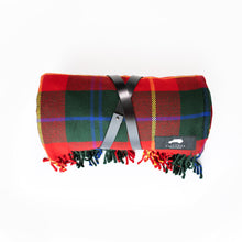 Load image into Gallery viewer, PICNICS ON MY LAND ROVER SCOTTISH PLAID BLANKET
