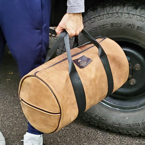DEFENDER 90 WEEKENDER LEATHER BAG