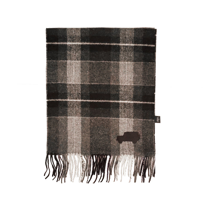 Overlander Grey Plaid Scarf