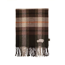 Load image into Gallery viewer, Overlander Brown Plaid Scarf