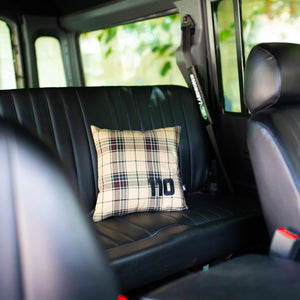 110 PILLOW LAND ROVER DEFENDER BEIGE BLACK
