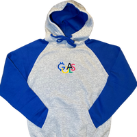 GOALS Olympic Heather Grey/Royal Pullover Hoodie