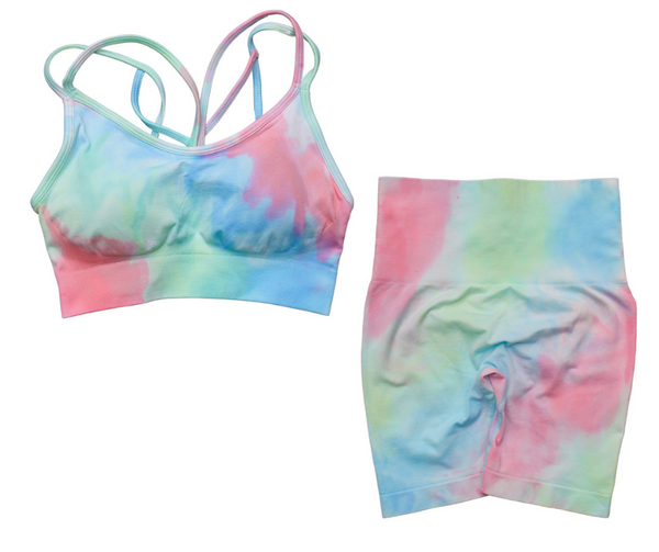 GOALS Tie Dye For Seamless Yoga Short Set (Bra x Leggings sold separately)