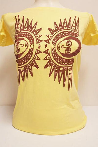 Angels Women Tshirt- Yellow