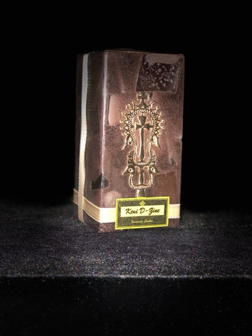Brown Candle with Gold Lalibela Cross - Medium Size