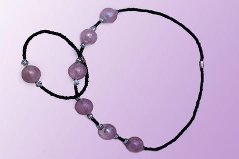 Necklace with purple Beads
