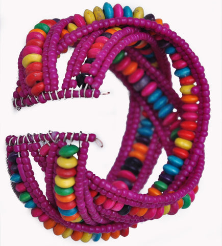 Purpule Beaded Bracelet from Harar