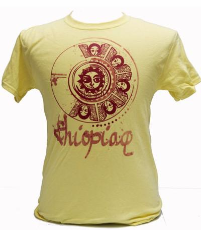 "'Ethiopiawi"" Angels Women Tshirt- Yellow"