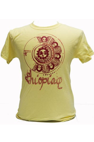 "'Ethiopiawi"" Angels Men Tshirt- Yellow"